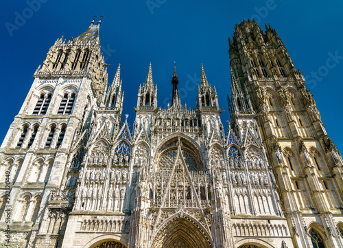 Keuken foto achterwand Europa Cathedral Notre Dame of Rouen in France