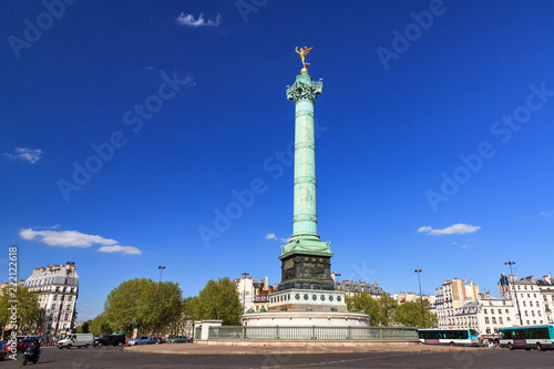 Photo The July Column, Colonne de Juillet, on the Place de la Bastille in Paris, Franc