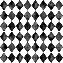 Black And White Argyle Seamless Pattern Background