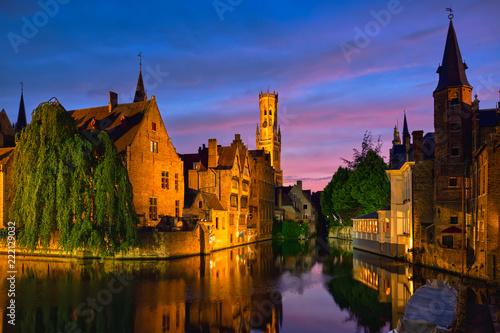 Keuken foto achterwand Brugge Famous view of Bruges, Belgium
