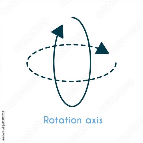 Rotation axis flat icon Canvas Print
