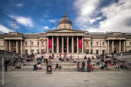 The national gallery in Trafalgar suqare, London