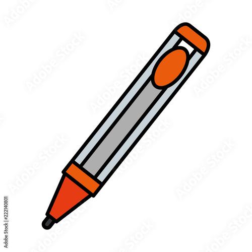 pen writer isolated icon Slika na platnu