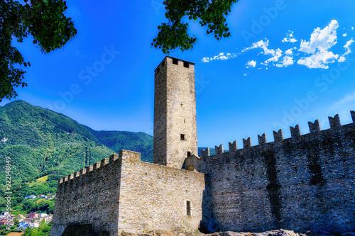 Foto  Il castello di Bellinzona in Svizzera