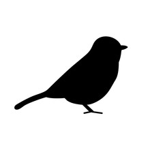 Bird Icon, Silhouette, Logo On...