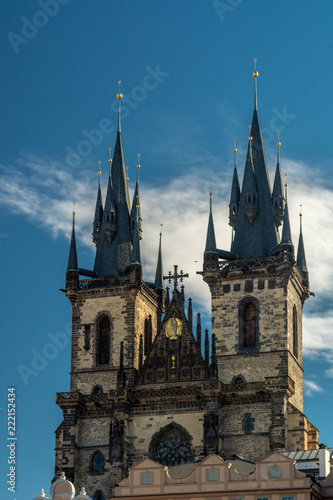 Foto op Canvas Praag Church of Our Lady before Tyn in Prague