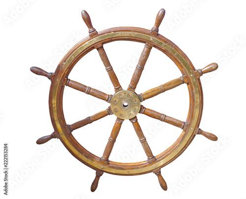 In de dag Schip helm of sailing boat