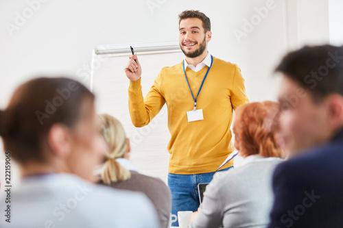 Mann als Redner und Berater Canvas Print