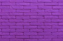 Ultraviolet Brick Wall Painted...