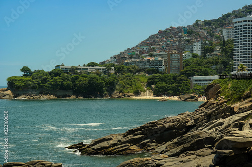 Foto op Aluminium Blauw View of Vidigal, contrasts of Rio de Janeiro (Vidigal - Rio de Janeiro)