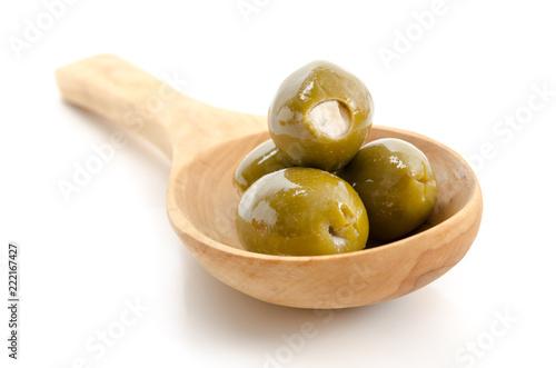 Gefüllte grüne Oliven