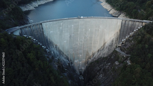 Plakat Contra dam, Valle Verzasca, Ticino, Szwajcaria