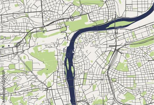 map of the city of Prague, Czech Republic – kaufen Sie diese ...