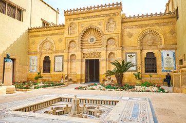 The carved decorations of Coptic Museum, Cairo, Egypt