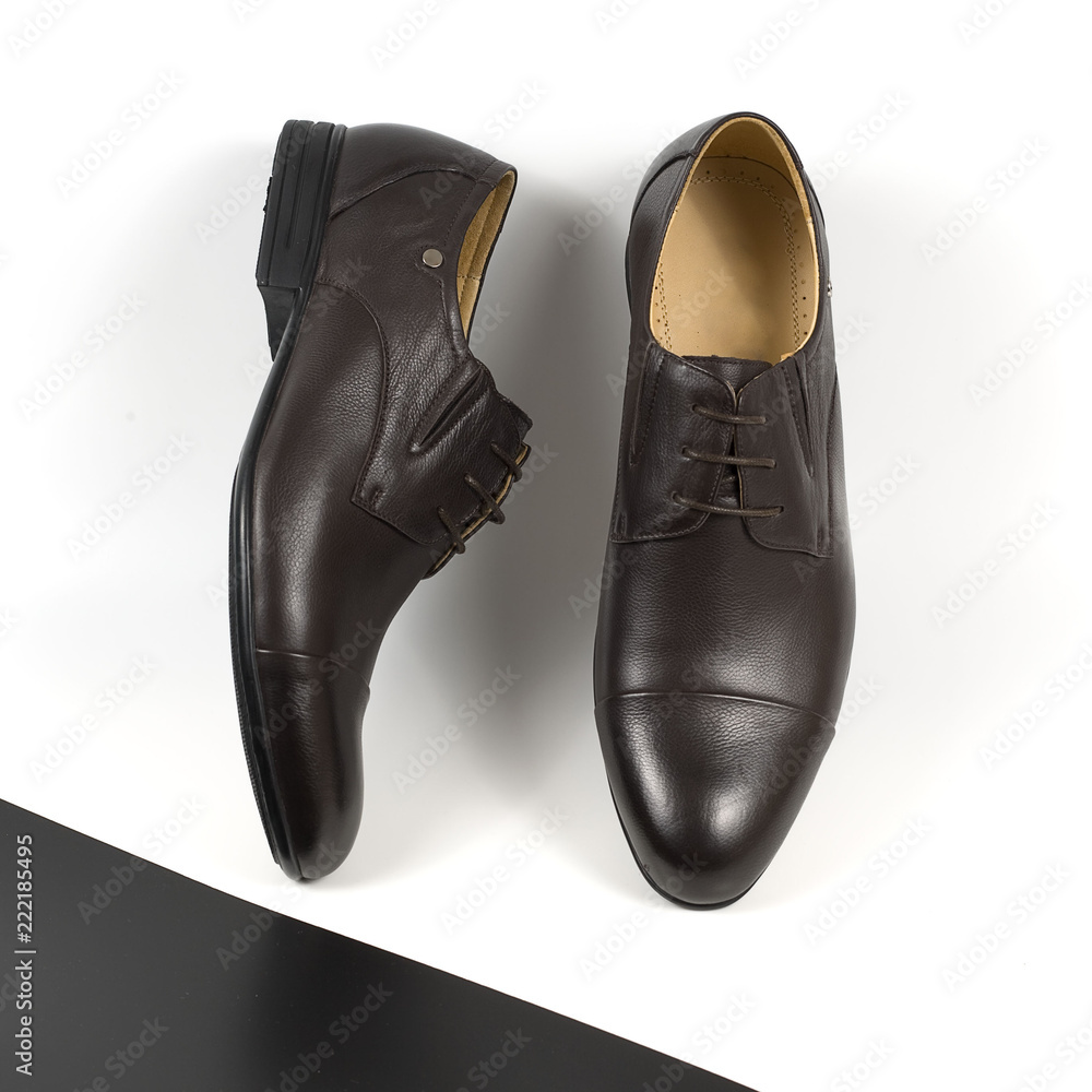 Photo Art Print Classical Pair Of Brown Male Shoes