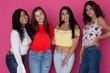 Four Diverse Happy Teen Friends