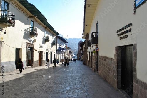 Keuken foto achterwand Zuid-Amerika land morning street in Cusco