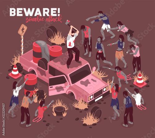 Photo  Beware Of Zombies Background