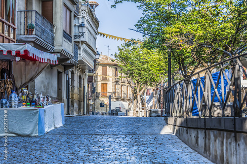 In de dag Street in the center of the city of Olite. Navarre Spain