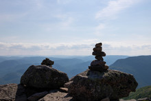 Two Cairns (Inukshuk Rocks) On...