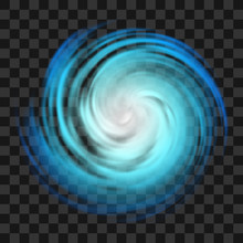 Blue Hurricane Symbol On Dark ...