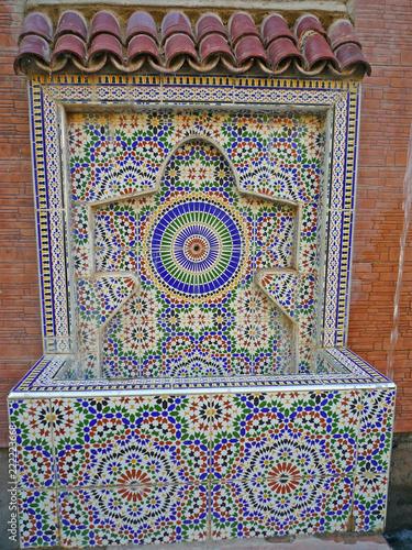 Foto op Aluminium Fontaine Maroc, fontaine Vallée de l'Ourika
