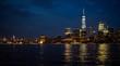 panorama of downtown and midtown Manhattan at night