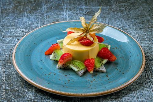 Fotografie, Obraz  Panna cotta with passion fruit