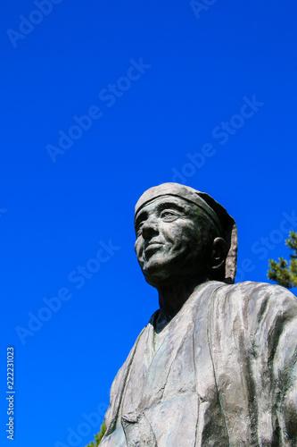 Deurstickers Afrika 日和山公園の松尾芭蕉像