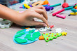 Molding clay for Christmas, Kid education learn and play