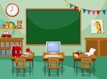 A Empty Computer Classroom