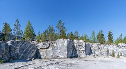 The Italian quarry in the mountain park of Ruskeala, Karelia