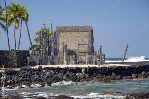 Tuinposter Historisch mon. Pu'uhonua o Honaunau,National Historical Park