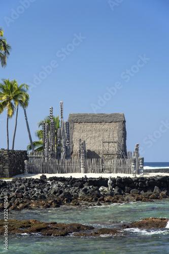 Tuinposter Historisch mon. Pu'uhonua o Honaunau,National Historical Park,Hawaii