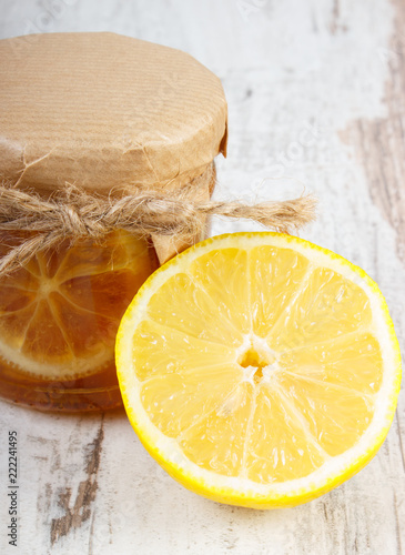 Photo  Fresh lemon and honey, healthy food and nutrition