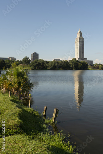 Photo Blue Skies at the State Capital Building Baton Rouge Louisiana