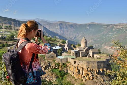 Armenia, Tatev monastery is a 9th century historical monument Wallpaper Mural