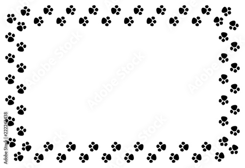Marco De Huellas De Perro Stock Vector Adobe Stock