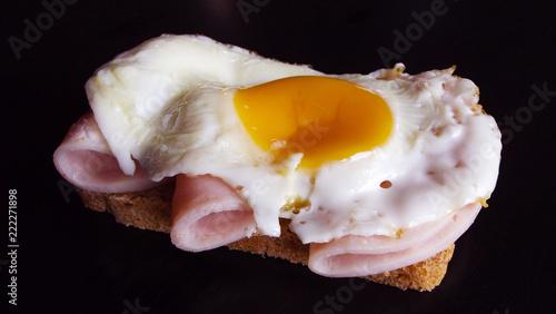 Fried egg and ham for Breakfast. #222271898