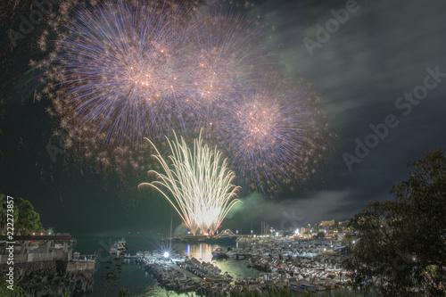 Fotografie, Obraz  fuochi d'artificio sul mare