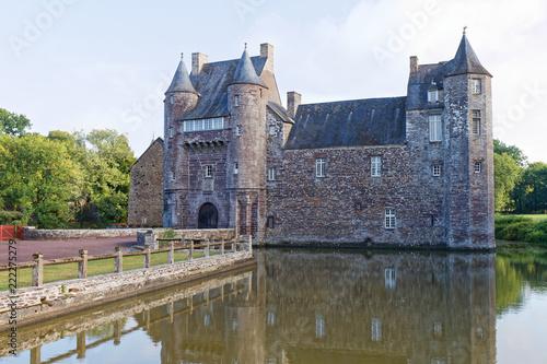Foto op Aluminium Oude gebouw Trecesson Castle - Campeneac - Brittany, France