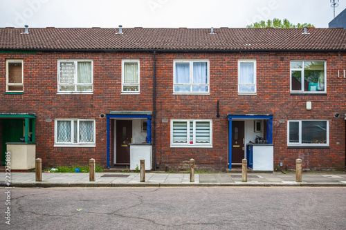 Fotografie, Obraz Council terrace houses around Hackney in London