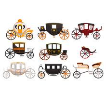 Retro Carriages Set, Vintage T...