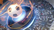 Football. Futuristic Interface...