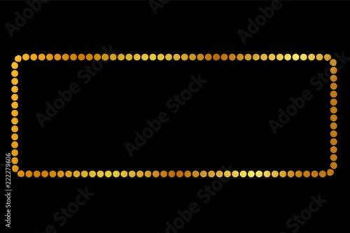 Fotografie, Obraz  Rectangle Golden dot Frame, for Certificate, Placard Go Xi Fat Cai Moment or oth