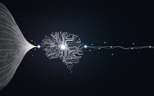 Big Data And Artificial Intelligence Concept. Machine Learning And Circuit Board. Deep Learning