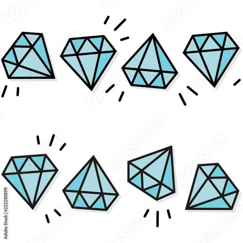 kamienie szlachetne diamenty brylanty turkusowy poziomy powtarzalny podwójny border