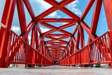 Red Iron Pedestrian Walkway
