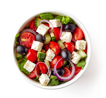 Greek Salad In Take Away Bowl ...