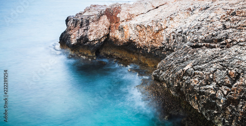 Photographie  Coast of Mediterranean Sea. Long exposure